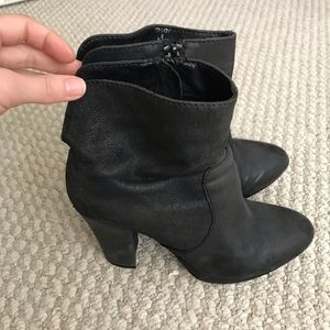 Trudy black heel booties
